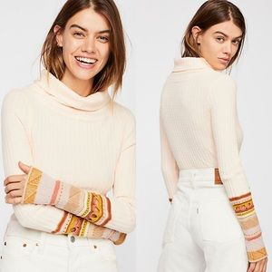 nwt // free people mixed up cuff thermal top